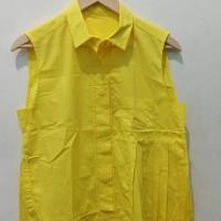 *Preloved* Atasan Kerah Big Size Blouse Tank Top Kuning you can see