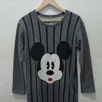 *Preloved* Dress Mickey Mouse Lengan Panjang Sweatshirt