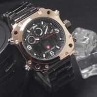 jam tangan pria swis army dual time analog & digital ,tanggal & hari