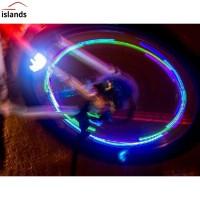 TG 2Pcs Set Tutup Pentil Ban Sepeda Motor dengan Lampu Neon LED Warna