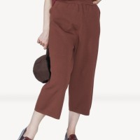 Kakuu Basic - Waist-Band Crop Pants 2