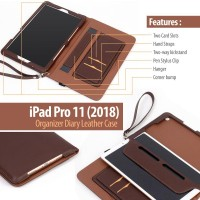 iPad Pro 11 2018 2020 - Organizer Diary Leather Case