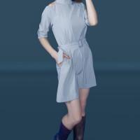 Kakuu Basic - Copy Of Cutout Shoulder Belt Set Dress