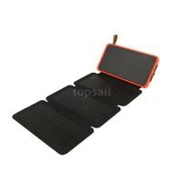 Power Bank Solar Panel Tenaga Surya Portable Anti Air dengan 2 Port