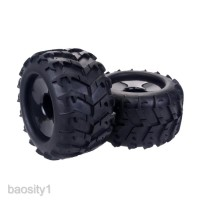 2PCS RC Car Wheel Rim Tire for Redcat Hsp Kyosho Hobao 1/8 Monster