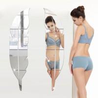Stiker Dinding Cermin Tahan Air DIY Seni Hiasan Dinding Ruang Tamu