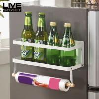 Livejalan Rak Magnet Model Dapat Dilipat untuk Ditempel pada Kulkas