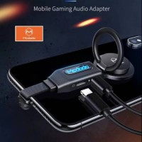 Adapter audio lightning gaming Mc dodo 4 in 1 with ring stand original
