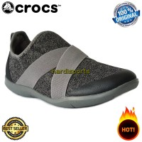 Sepatu Sneaker Crocs Swiftwater Cross Strap 204887-0DA - Grey ORIGINAL