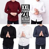 Kemeja Pria Lengan Panjang Kerah Shanghai Big Size XXL Aneka Warna