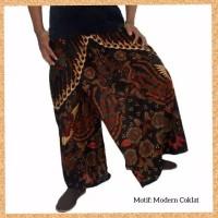 celana sarung dewasa muslim pria jumbo bigsize motif modern coklat