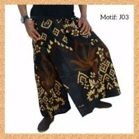 celana sarung dewasa muslim pria jumbo bigsize motif j03
