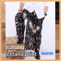 celana sarung dewasa muslim pria jumbo bigsize motif maiyah y02