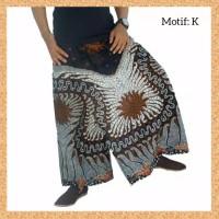 celana sarung dewasa muslim pria jumbo bigsize motif k
