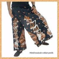 celana sarung dewasa muslim pria jumbo bigsize motif maiya coklatputih