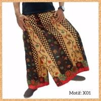 celana sarung dewasa muslim pria jumbo bigsize motif x01