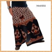 celana sarung dewasa muslim pria jumbo bigsize motif e02