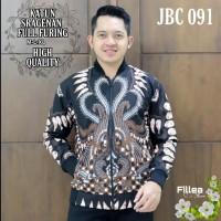 New Jaket Batik Pria Solo Casual Formal High Quality Kode JBC 091