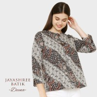 Jayashree Batik Deena Brown Blouse Wanita