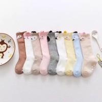 Kaos Kaki Korea Bayi dengan karet Anti-Slip ukuran M - M Putih