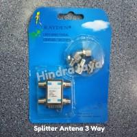 Splitter / Spliter 3 Way / Cabang Antena TV