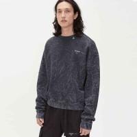 Off White Grey Volume Crewneck Sweater 100% Original