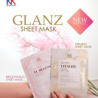 Masker Wajah GLANZ SHEET MASK ( 1 BRIGHTENING & 1 FIRMING ) PKET HEMAT