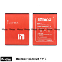 Baterai Himax M1 Y13 Original Double Power Batre Batrai Battery HP