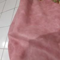 Bahan kulit sapi lembaran White wax Mill soft Pink