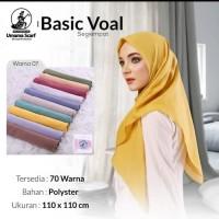 Hijab jilbab kerudung segi empat basic VOAL by umama scrat