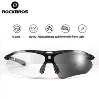 ORIGINAL Kacamata sepeda ROCKBROS warna hitam lensa Photochromic 10143
