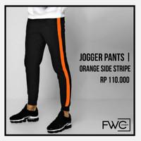 Jogger Orange Side Stripe - Celana Olahraga Panjang - Trackpants