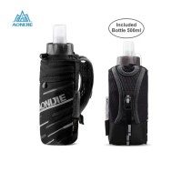 Aonijie E961 Hand Bag + botol 500 ml lari sepeda gym outdoor - Black