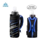 Aonijie E961 Hand Bag + botol 500 ml lari sepeda gym outdoor - Blue