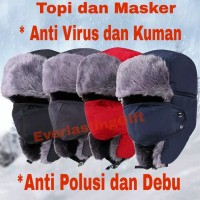 Topi Masker Anti Polusi dan Anti Virus (MUST HAVE)