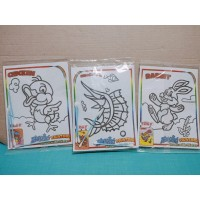Mainan anak edukasi magic painting cotton bud
