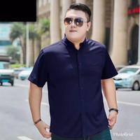 KEMEJA POLOS JUMBO BIGSIZE PRIA COWOK XXL PENDEK MURAH FORMAL KANTOR