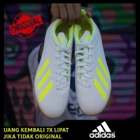 Sepatu Futsal Adidas X Tango 18.4 IN - White/Yellow BB9407 Original