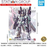 BANDAI GUNDAM MG FULL ARMOR UNICORN VERKA 78218 20 - GUNPLA MODEL KIT
