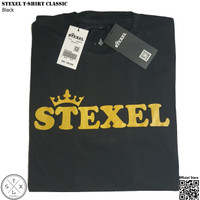 STEXEL BLACK TShirt CLASSIC PREMIUM ORIGINAL - Kaos Distro Pria Wanita