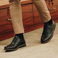 Lvnatica Footwear Dante Black Sepatu Pantofel Pria Formal Kerja - Hitam, 39