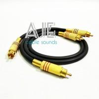 Kabel jack RCA pendek-kabel canare rca gold