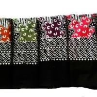 Taplak Meja Tamu Batik Cap Hitam Manis