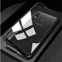 Casing Oppo F7 Premium Transparent Aluminium Magnetic Case