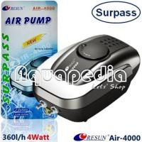 RESUN Air-4000 Pompa Udara Aerator Quality Aquarium Air Pump