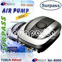 RESUN Air-8000 Pompa Udara Aerator Aquarium Air Pump