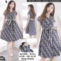Dress Batik Kancing Depan, Dress Batik Busui