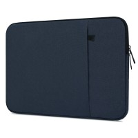 Tas Laptop 14 inch Softcase Macbook Nylon Sleve Waterproof - Dark Blue