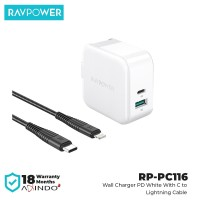 RAVPower Wall Charger Fast Charging PD18W+QC 3.0 [RP-PC116]