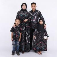 Batik keluarga family motif kupu kupu hitan